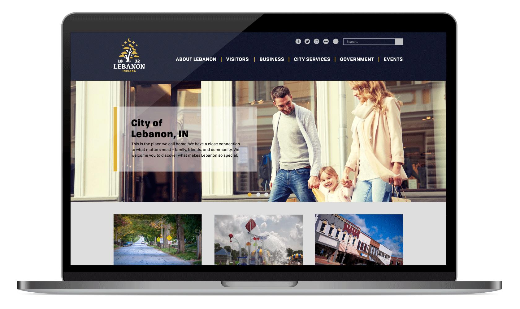 City of Lebanon Website Mockup